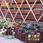 燻木柱圍籬