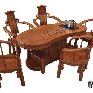 花梨木福祿茶桌